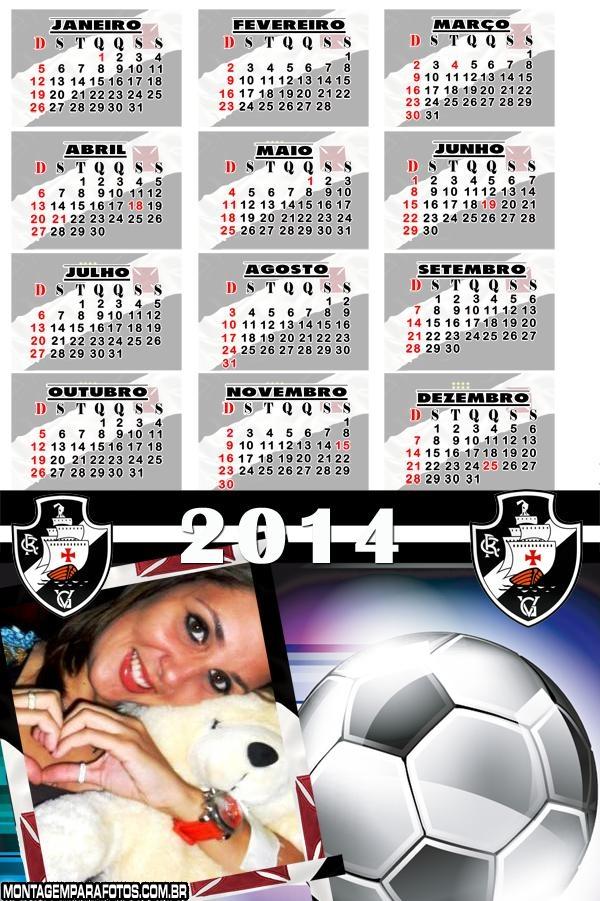 Calendário 2014 do Vasco