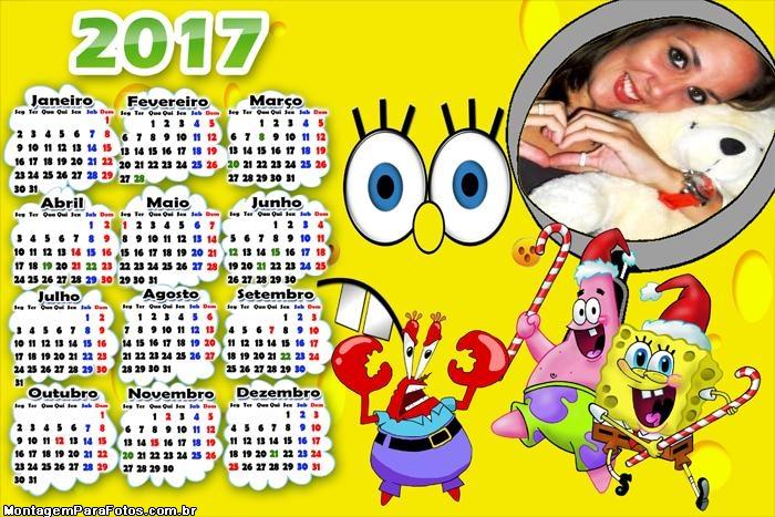 Calendário 2017 Bob Esponja de Natal