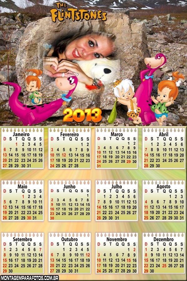 Calendário Dino dos Flintstones