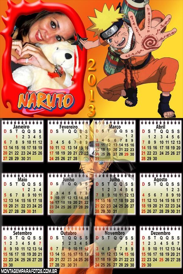 Calendário Naruto 2013