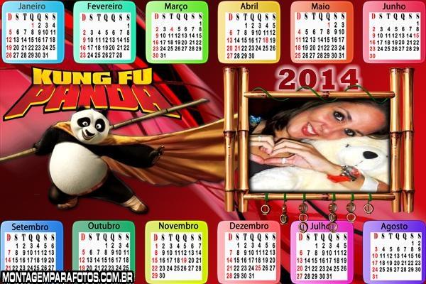 Calendário 2014 Kung Fu Panda
