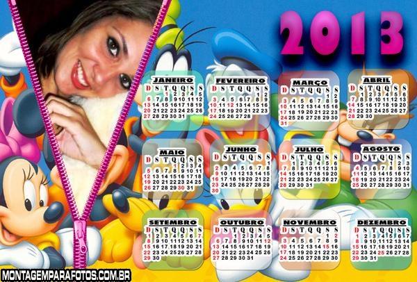 Calendário Disney 2013