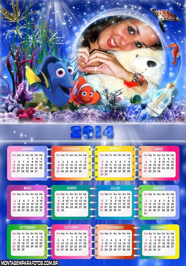 Calendário 2014 Peixe Nemo