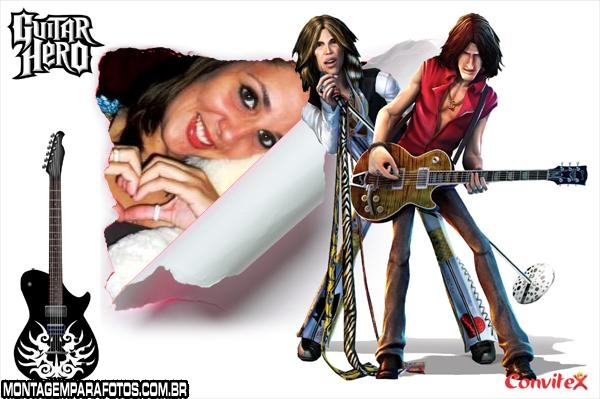 Moldura Roqueiros Guitar Hero