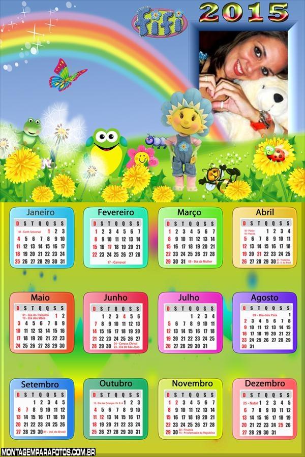 Calendário 2015 Fifi
