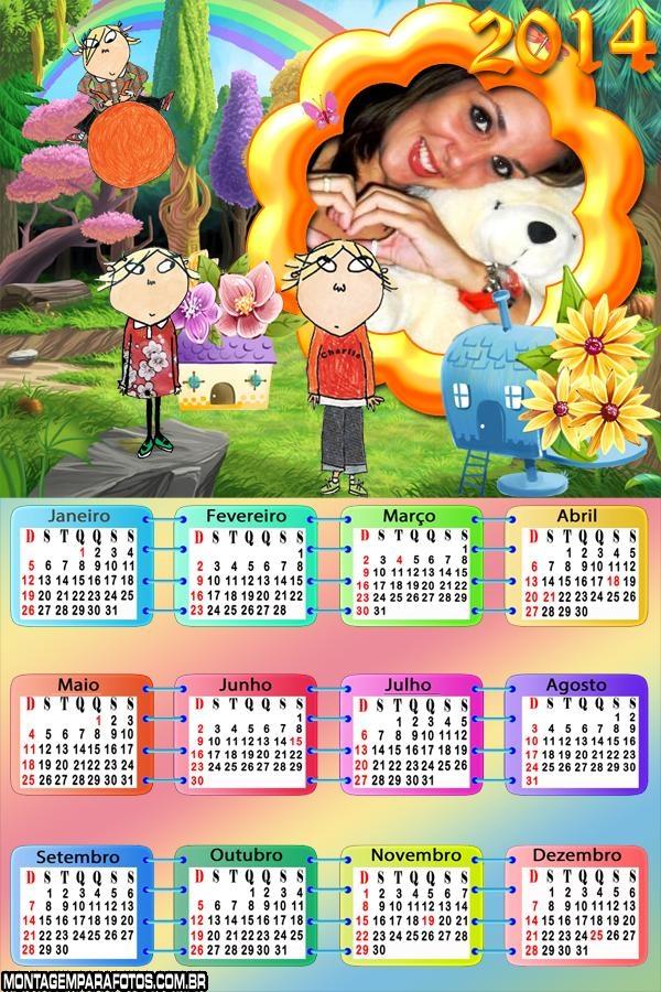 Calendário 2014 Charlie e Lola