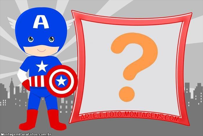 Capitão América Cute FotoMoldura