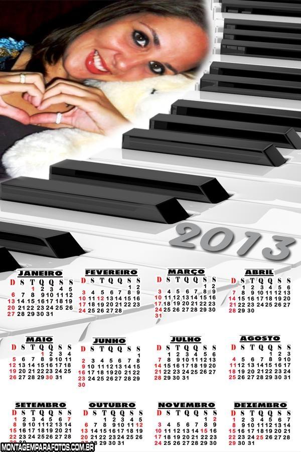 Calendário Piano 2013