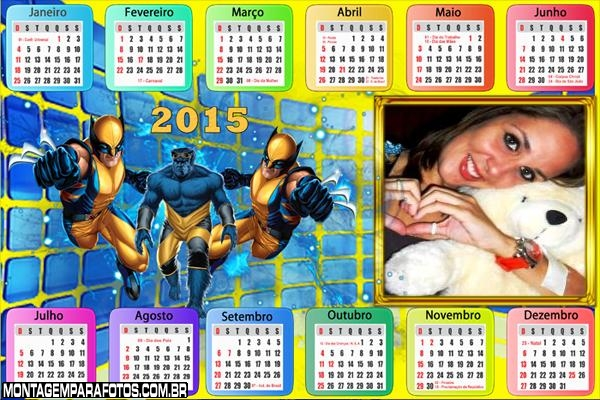 Calendário 2015 Wolverine