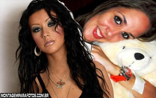 Moldura Christina Aguilera