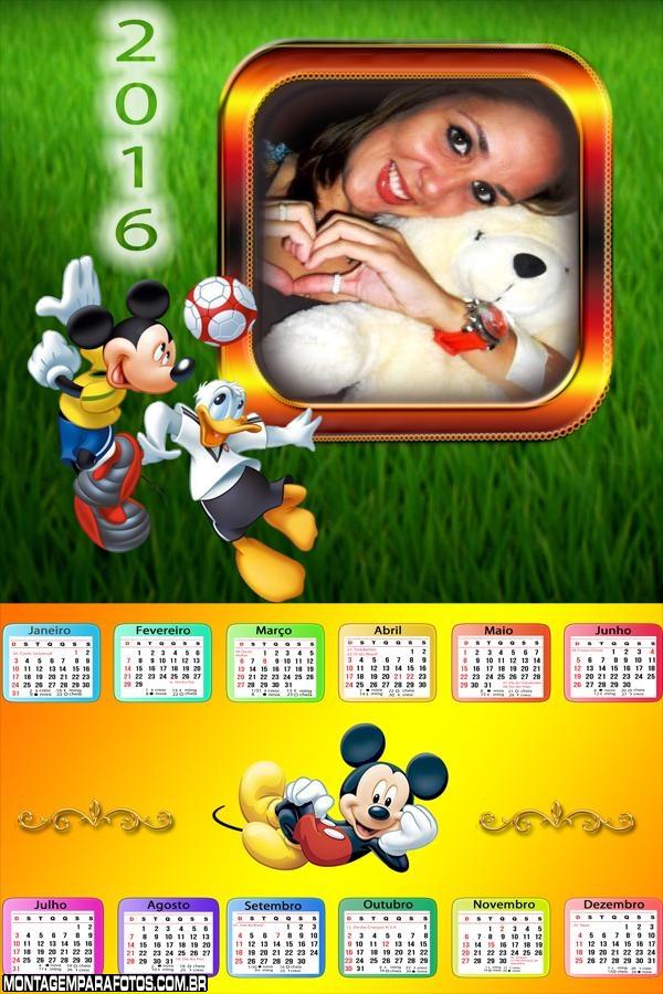 Calendário Mickey e Donald Futebol 2016