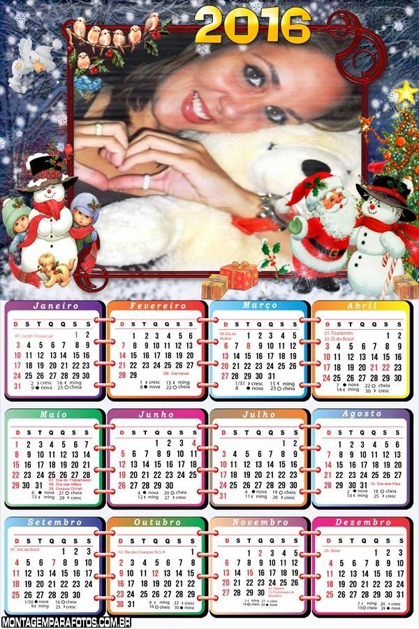 Calendário Natalino 2016 Papai Noel