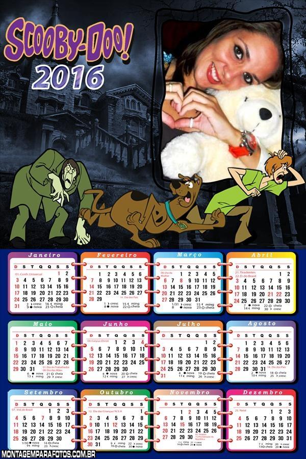 Calendário Scooby Doo By Doo 2016