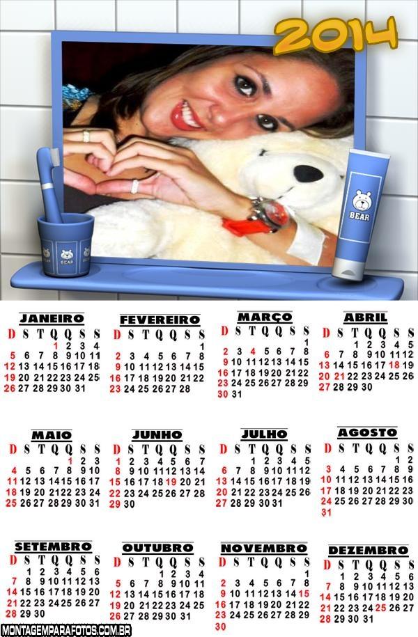 Calendário Escovinha de Dente