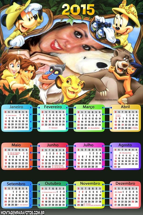 Calendário 2015 Safari Mickey
