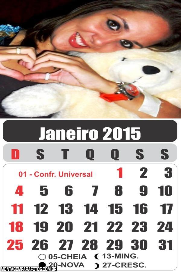 Calendário Janeiro 2015