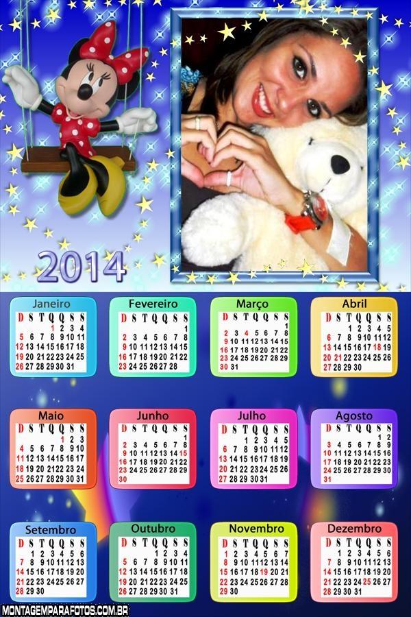 Calendário Balanço Minnie 2014