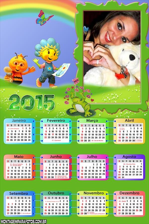 Calendário 2015 Floriguinhos