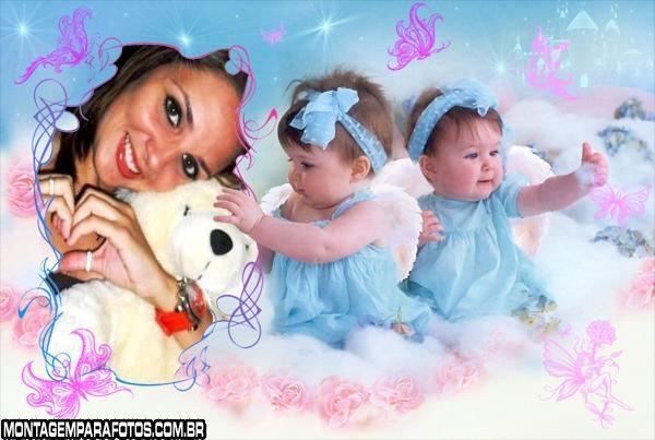 Moldura Bebê Menininha
