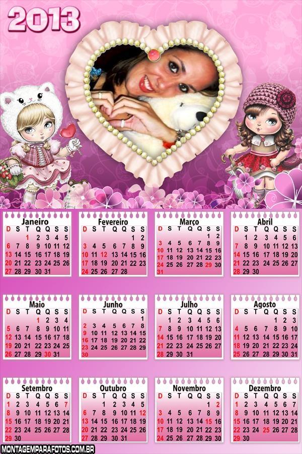 Moldura Jolie Calendário 2013