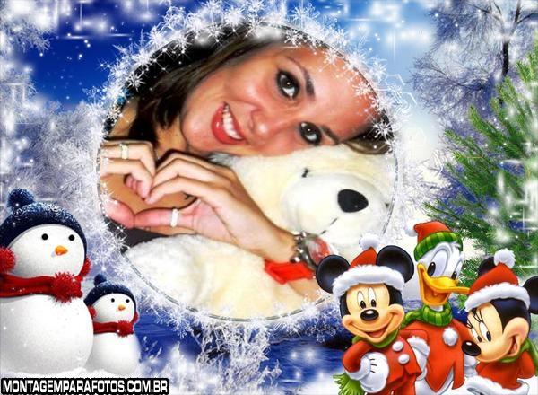 Moldura Natal Turma do Mickey