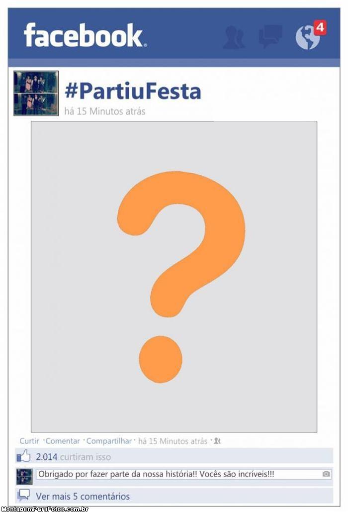 Moldura Facebook Partiu Festa
