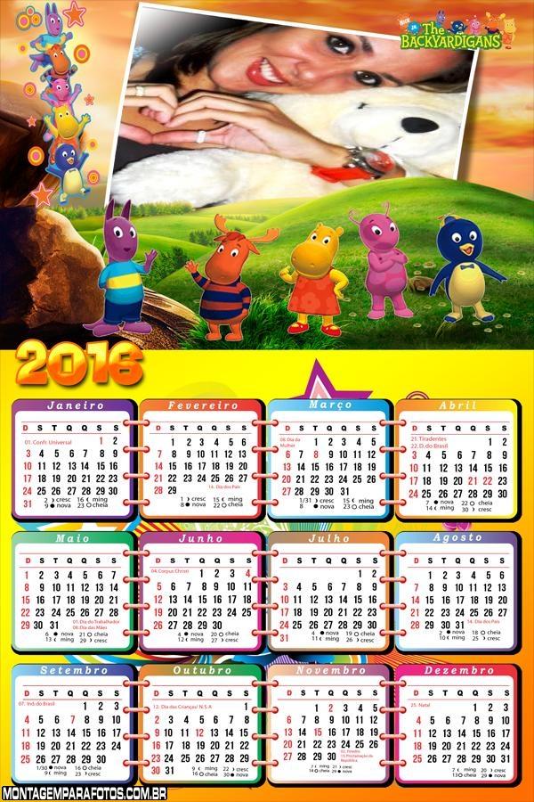 Calendário dos Backyardigans 2016