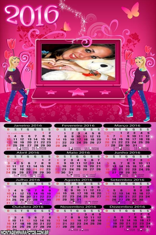 Calendário Notebook da Barbie 2016