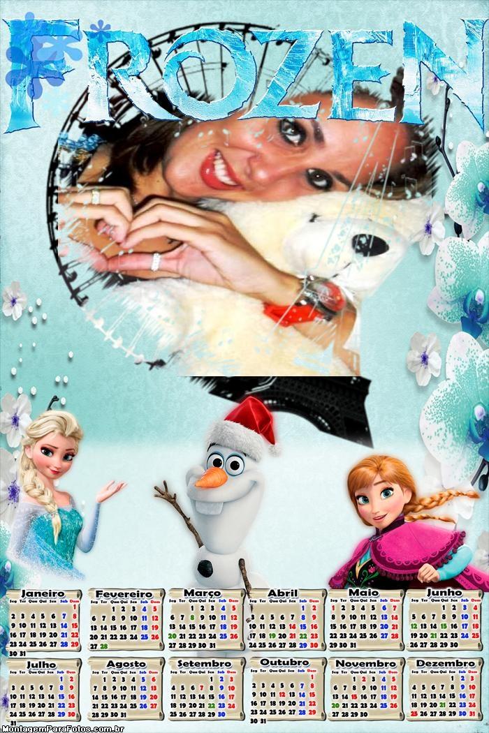 Calendário 2017 Frozen Elsa Anna e Olaf