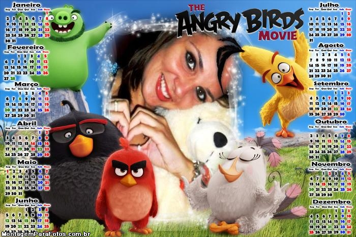 Calendário 2017 The Angry Birds Movie