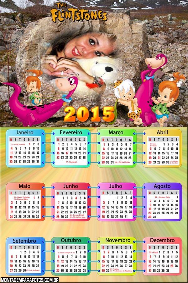 Calendário 2015 Dino Bambam