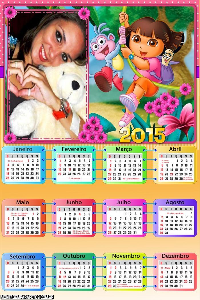 Calendário 2015 Dora Aventureira