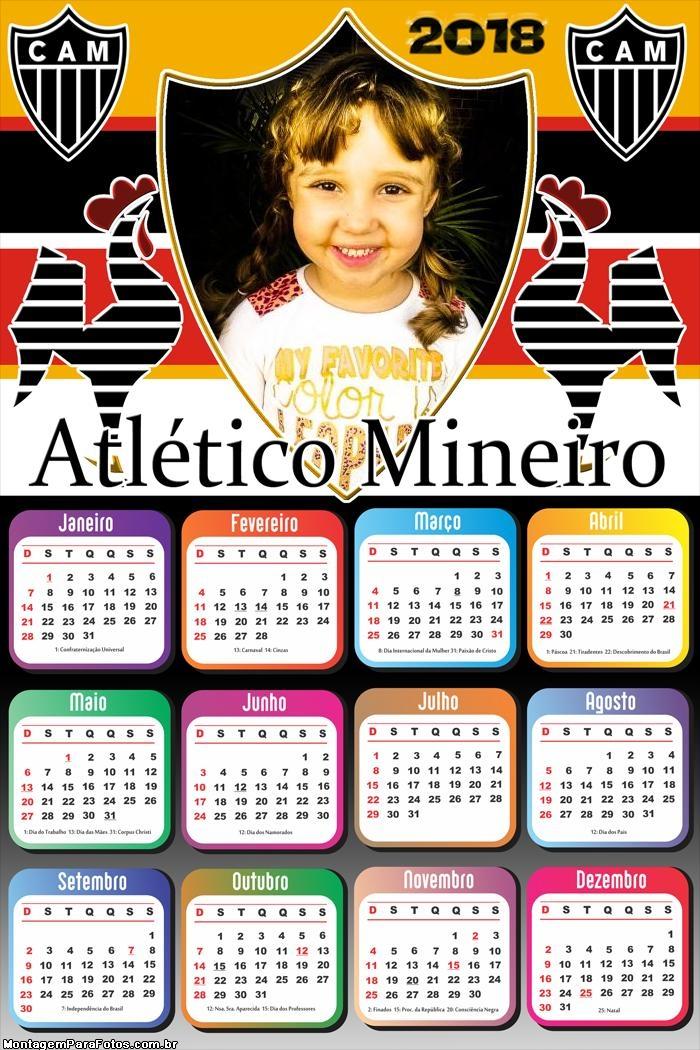 Calendário 2018 Atlético Mineiro Time