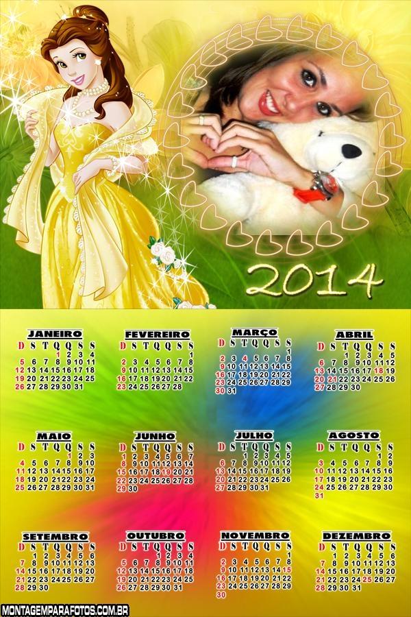 Calendário 2014 Desenho Bela