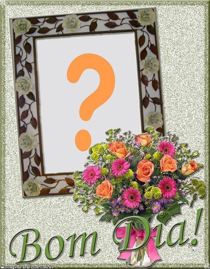 Bom Dia com Buquê de Flores