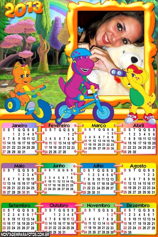 Calendário 2013 Barney Bike