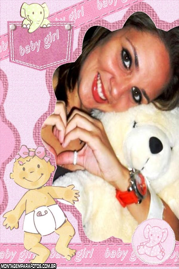 Elefantinho Baby Girl Rosa