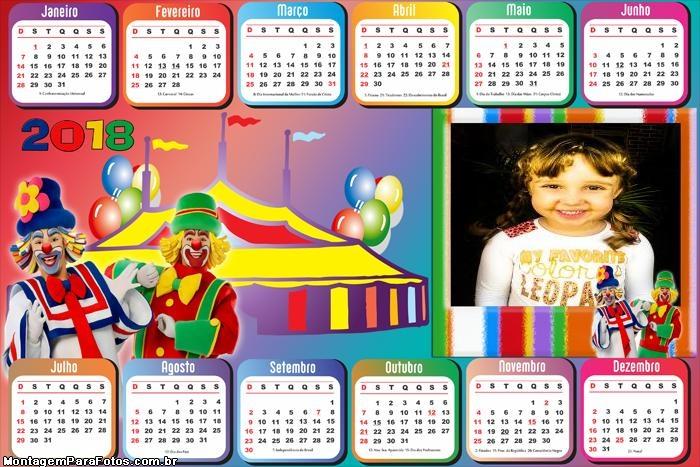 Calendário 2018 Circo do Patati Patatá