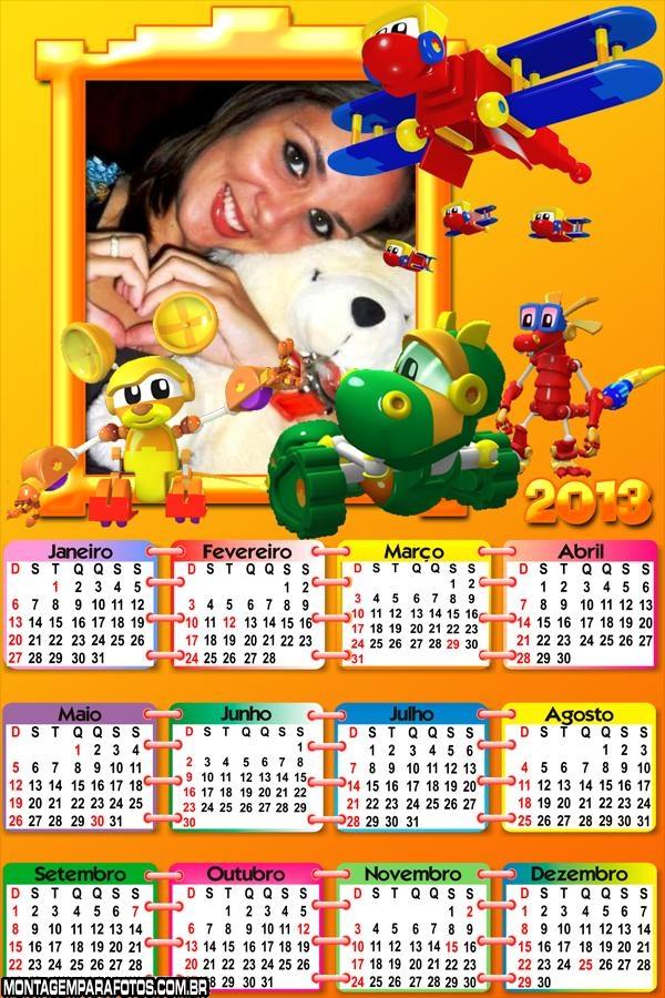 Calendário Mecanimais 2013