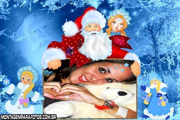 Moldura Pai Noel e Princesa