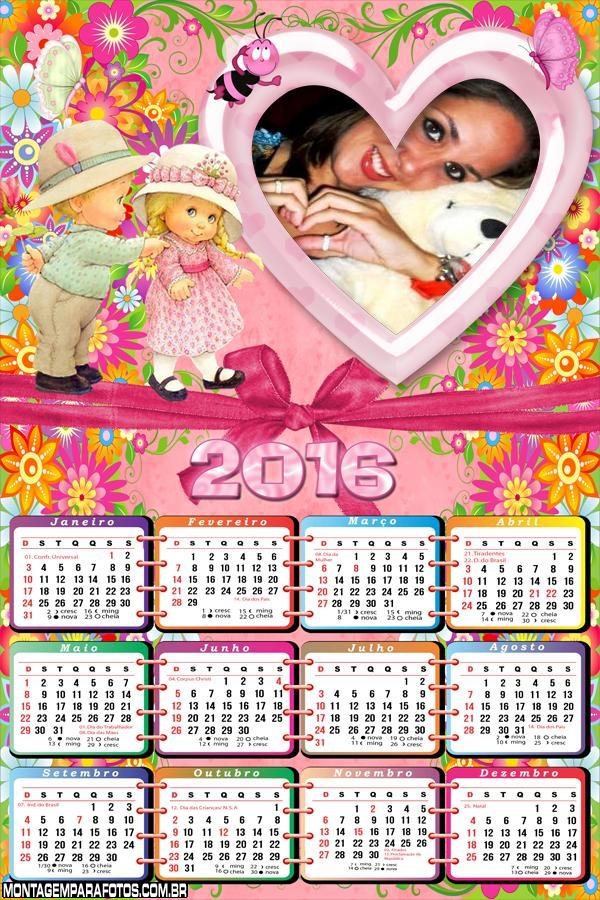 Calendário Crianças Bebês 2016