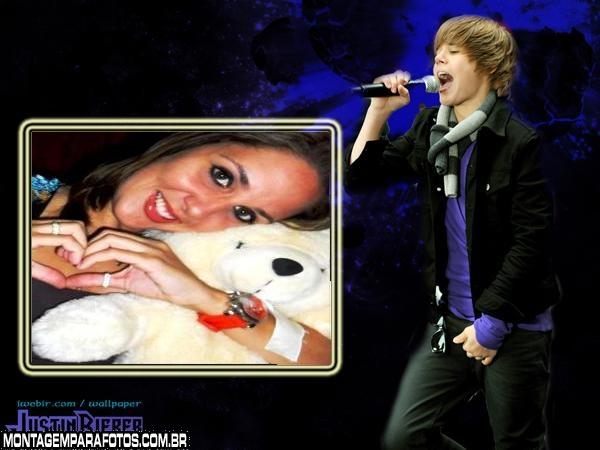 Moldura Justin Bieber Cantando