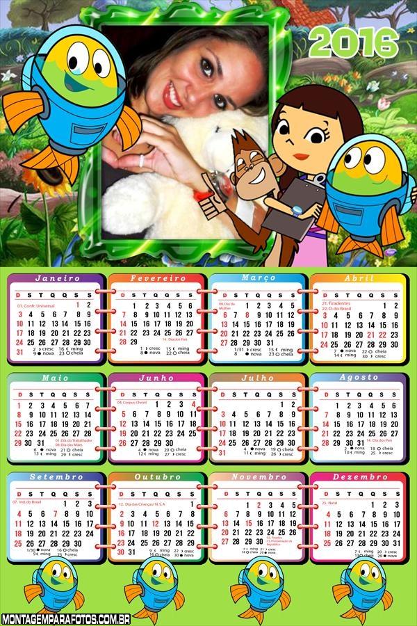 Calendário Peixonautas 2016 Desenho