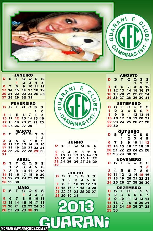 Calendário Guarani 2013