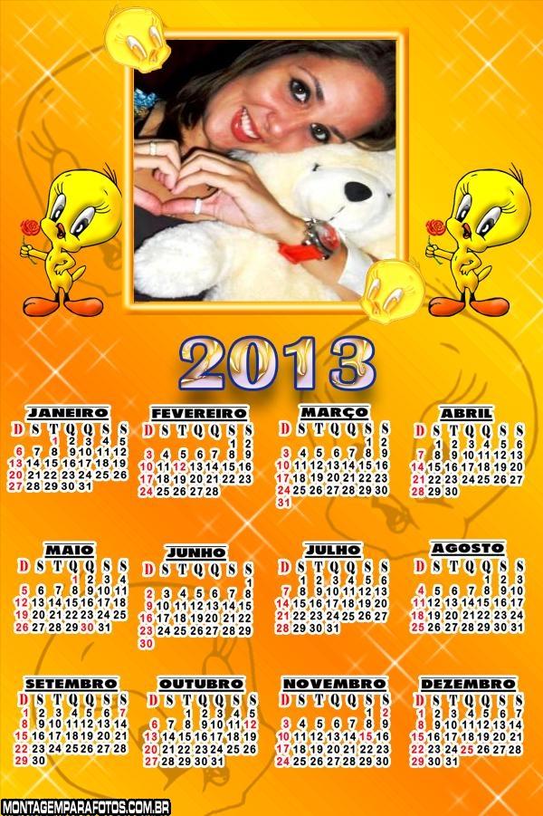 Calendário 2013 Piu Piu