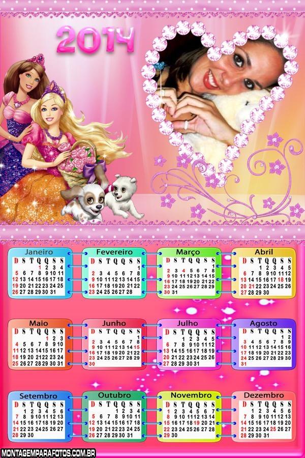 Calendário 2014 Barbie Bonecas