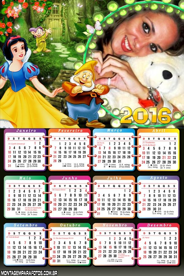 Calendário da Branca de Neve 2016