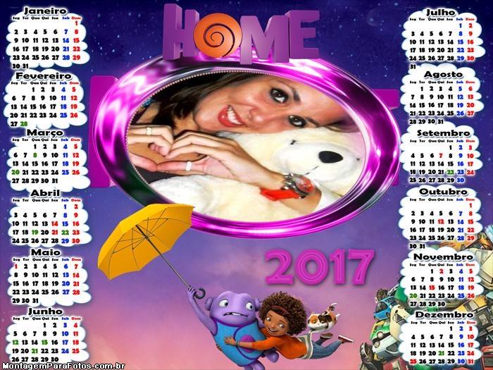 Calendário 2017 Desenho Home