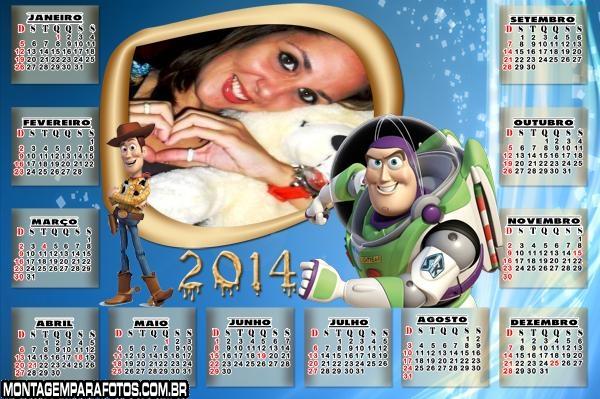 Calendário Buzz Lightyear 2014