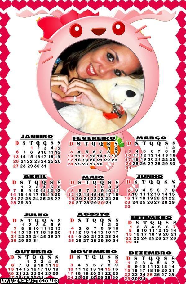 Calendário 2013 Coelho Bocão